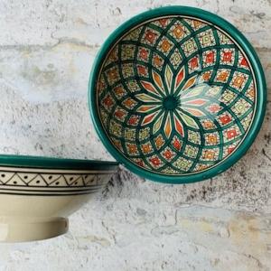 Marokkansk keramikskål - Ivette, 18 cm i dia.