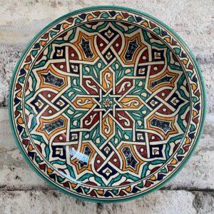 Marokkansk keramikfad 35 cm i dia. - Beatrice