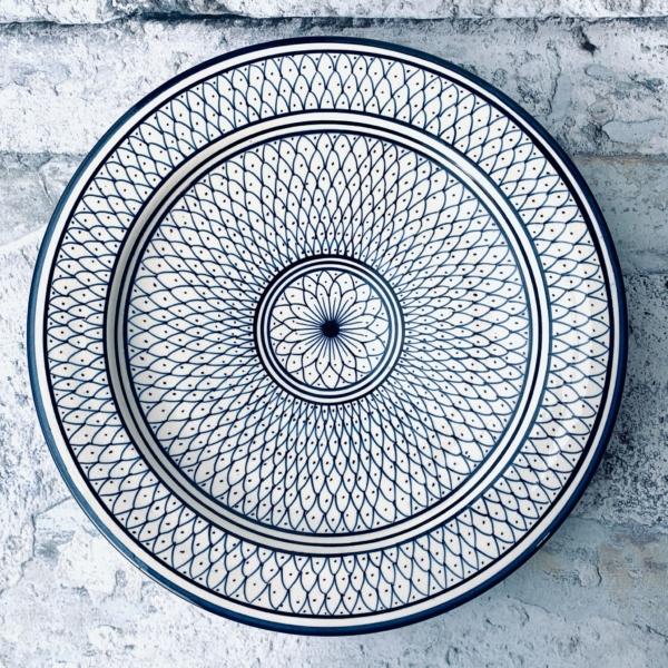 Marokkansk keramikfad - Addie, 30 cm i dia.