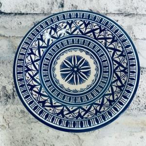 Marokkansk håndlavet keramikfad 30 cm i dia. - Dita
