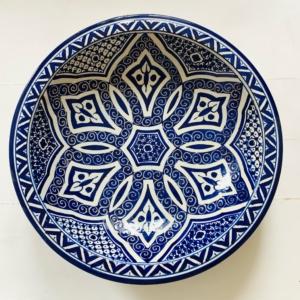 Marokkansk keramikfad, 40 cm i dia. - Nawal