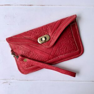 Størrelse: Marokkansk clutch/pung - Scarlet small20 x 12 cm med aftagelig rem