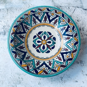 Marokkansk keramikfad 25 cm i dia - Farida