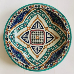Marokkansk keramikfad, 40 cm i dia. - Warda