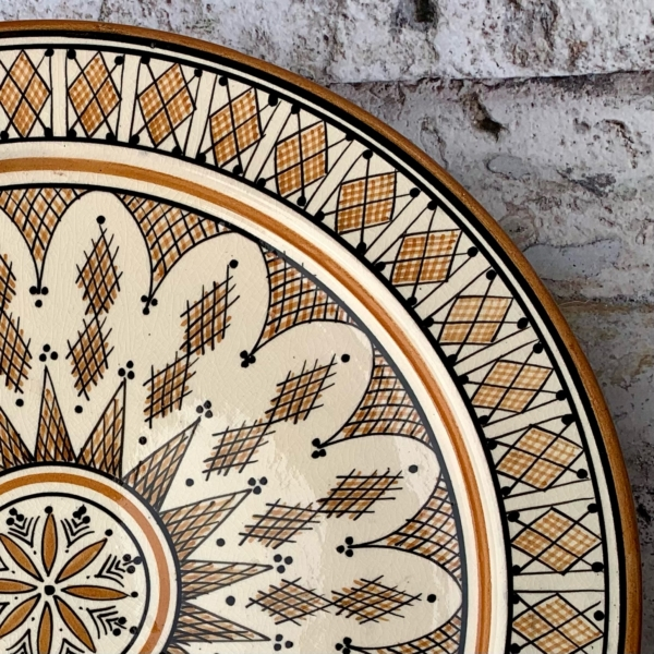 Marokkansk keramik fad 35 cm i dia - Bina