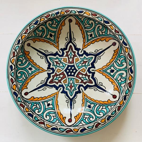Marokkansk keramikfad, 40 cm i dia. - Caisa