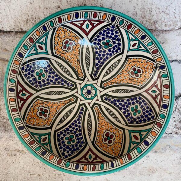 Marokkansk keramikfad – Florin, 40 cm i dia.