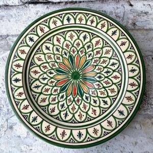 Marokkansk håndlavet keramikfad - Bibbe, 30 cm i dia.
