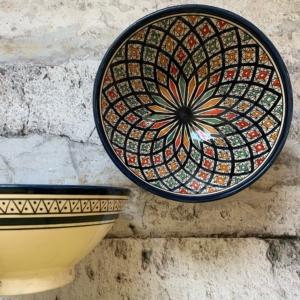 Marokkansk keramikskål - Cerice, fra 25 cm i dia.