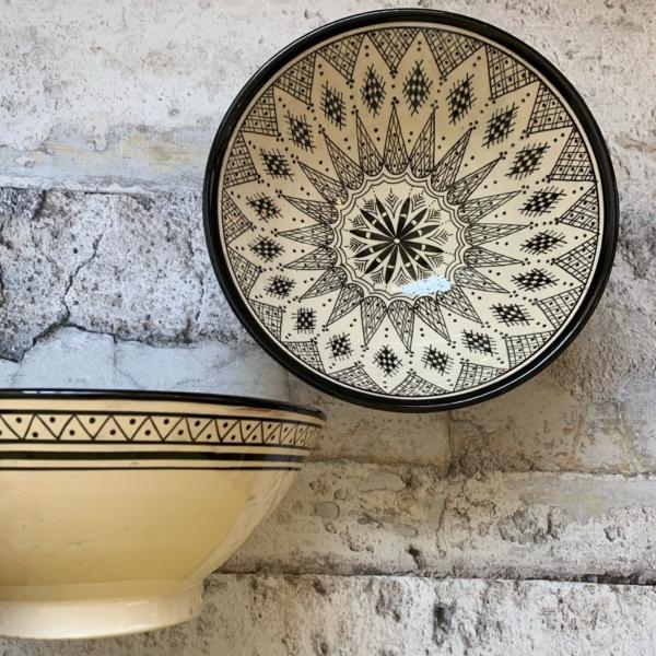 Marokkansk keramikskål - Jana, fra 25 cm i dia.