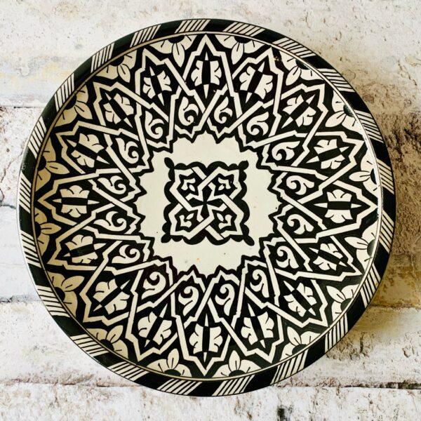 Marokkansk keramikfad 35 cm i dia. - Angel