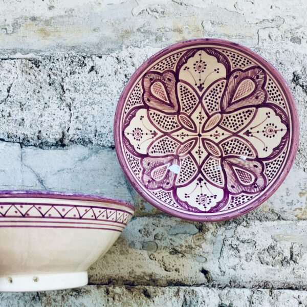 Marokkansk keramikskål - Selma, fra 25 cm i dia.