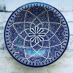 Marokkansk keramikfad, 40 cm i dia. - Mari