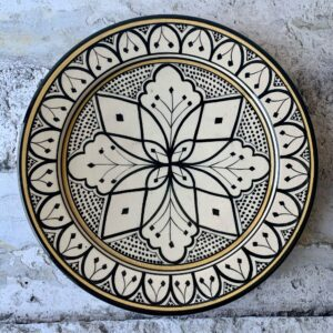 Marokkansk håndlavet keramikfad - Carlotta, 30 cm i dia.