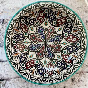 Marokkansk keramikfad 35 cm i dia. - Ava