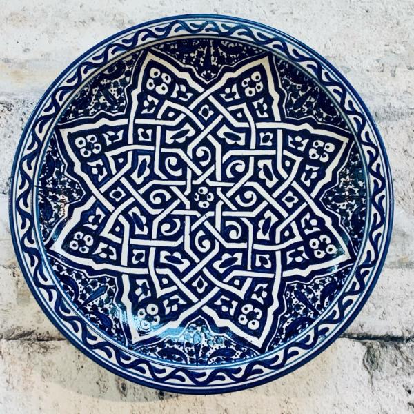 Marokkansk keramikfad, 40 cm i dia. - Rabia