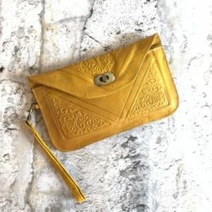 Marokkansk læder clutch/pung - Pari
