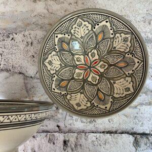 Marokkansk keramikskål - Saga, fra 25 cm i dia.