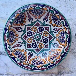 Marokkansk keramikfad 25 cm i dia - Myah