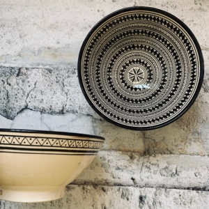 Marokkansk keramikskål - Sille, fra 25 cm i dia.