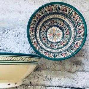 Marokkansk keramikskål - Violetta, fra 25 cm i dia.