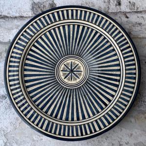 Marokkansk keramikfad 35 cm i dia. - Eleonora