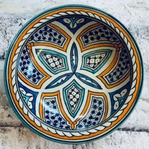 Marokkansk Keramikfad, 30 cm i dia. - Basma