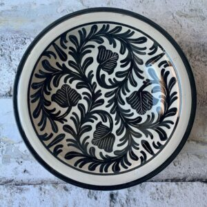 Håndlavet marokkansk keramikfad 30 cm i dia. - Anett