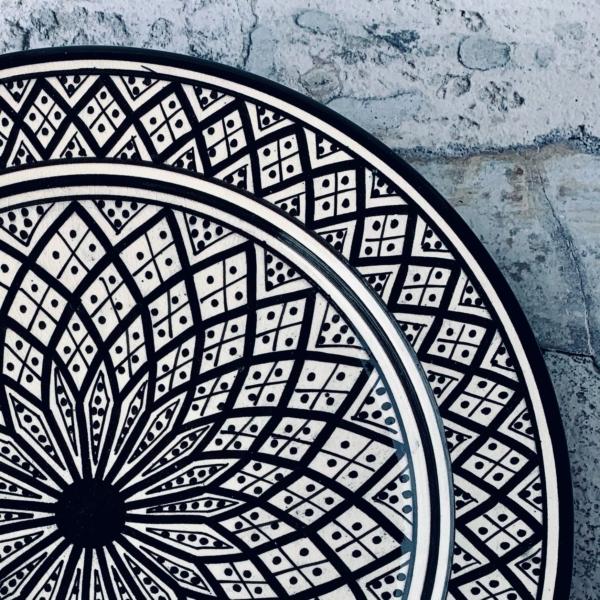 Marokkansk keramikfad - Tippe, 30 cm i dia.