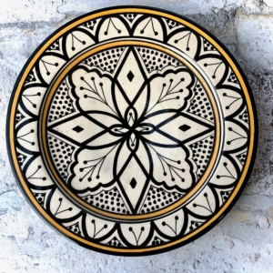 Marokkansk håndlavet keramikfad, 25 cm i dia. - Carlotta