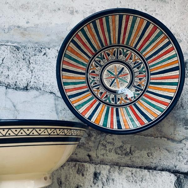 Marokkansk keramikskål - Ара, 18 cm i dia.