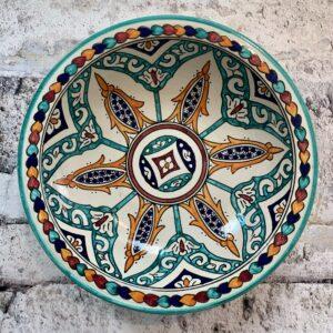 Marokkansk keramikfad 35 cm i dia. - Kinsley