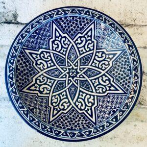 Marokkansk keramikfad, 40 cm i dia. - Sylvie