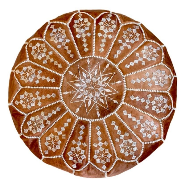 Marokkansk læderpuf - Sammie