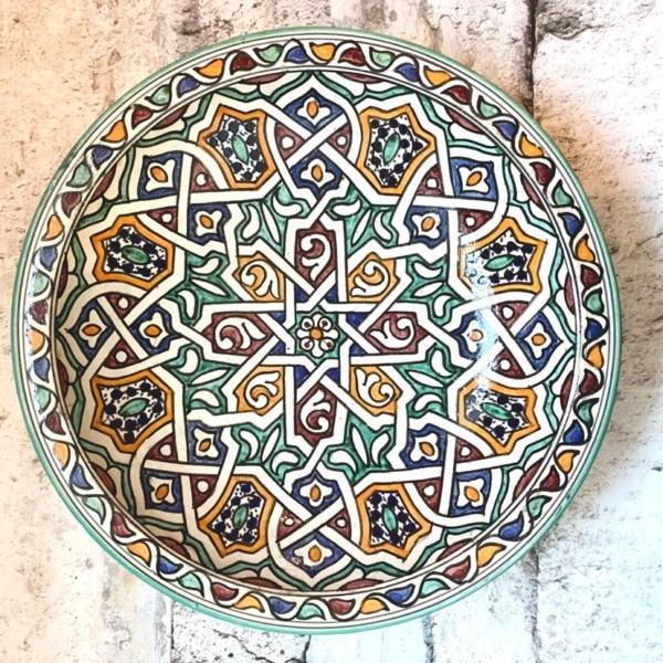 Marokkansk keramikfad 40 cm i dia. - Sima