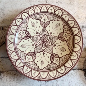 Håndlavet keramikfad - Olga, størrelse ca: 40cm i dia.