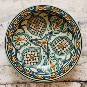 Marokkansk håndlavet keramikfad 30 cm i dia - Barb