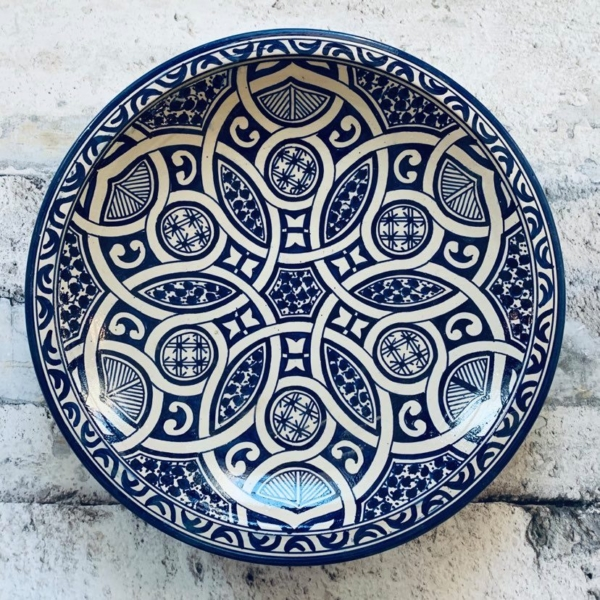 Marokkansk keramikfad, 40 cm i dia. - Samiha