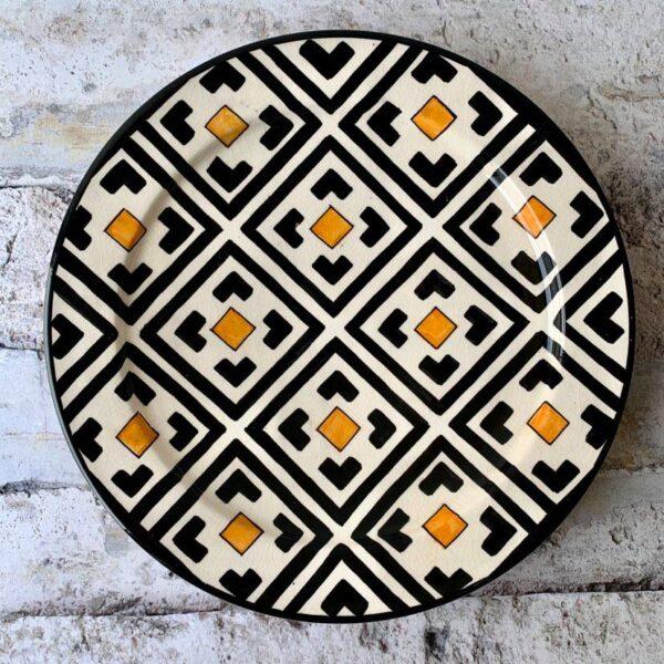 Marokkansk keramik fad 35 cm i dia - Lea