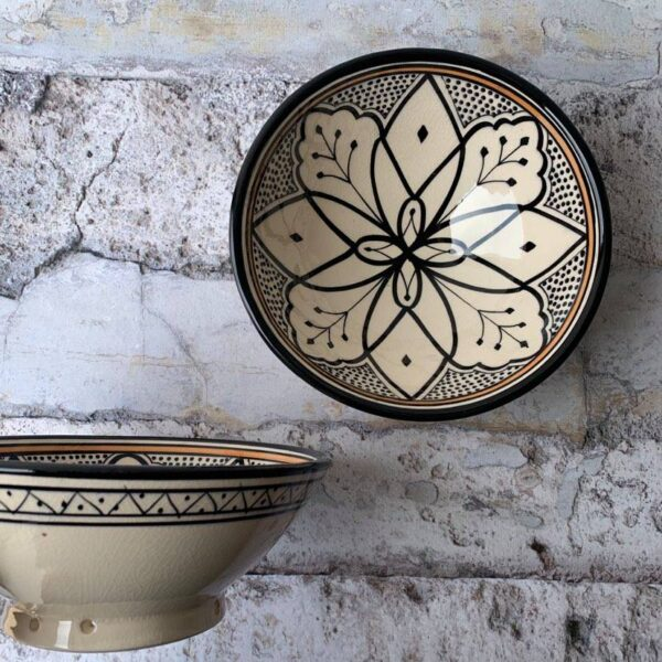 Marokkansk keramikskål - Carlotta, fra 25 cm i dia.