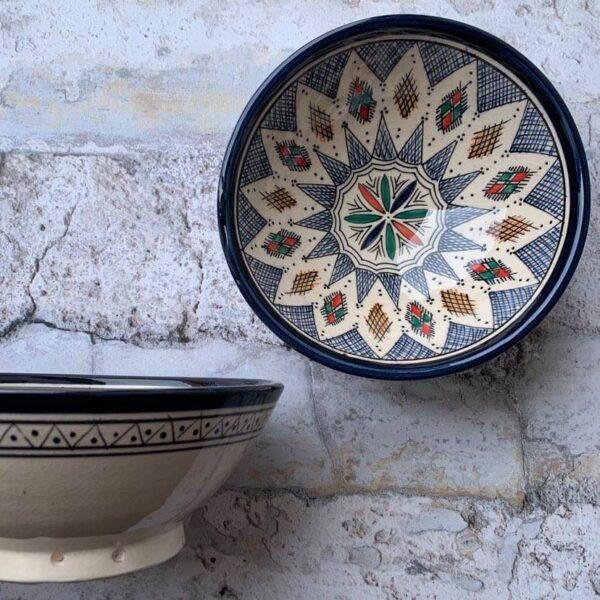 Marokkansk keramikskål - Asta, fra 25 cm i dia.
