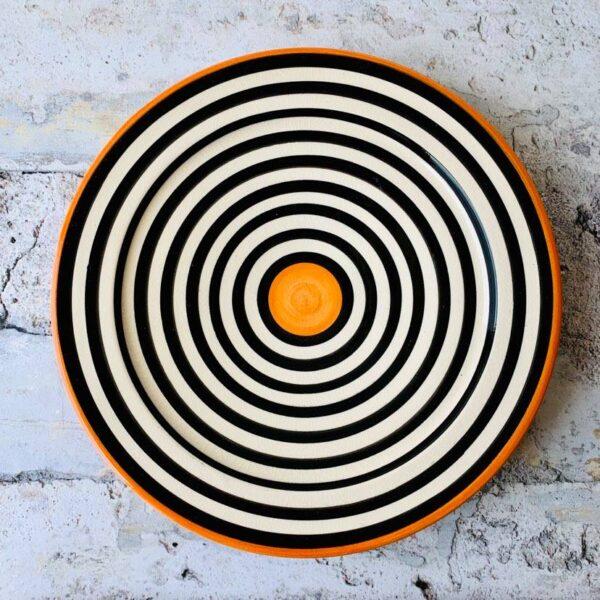 Marokkansk håndlavet keramikfad - Abelle, 30 cm i dia.