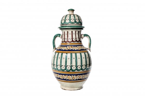 Fantastisk smuk og farverig vase