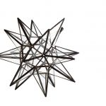 Stjerne Lanterne/lampe i klar glas, 35 cm i dia.