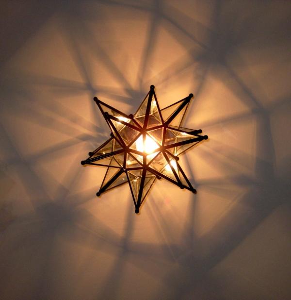 Stjernelampe - Lille model. Dia, 35 cm