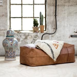 Marokkansk læderpuf - Gabriel