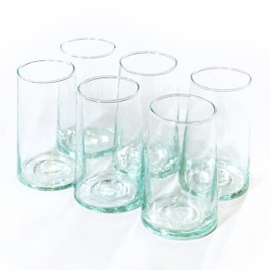 Marokkanske mundblæste glas - 6 stk. BELDI (L)
