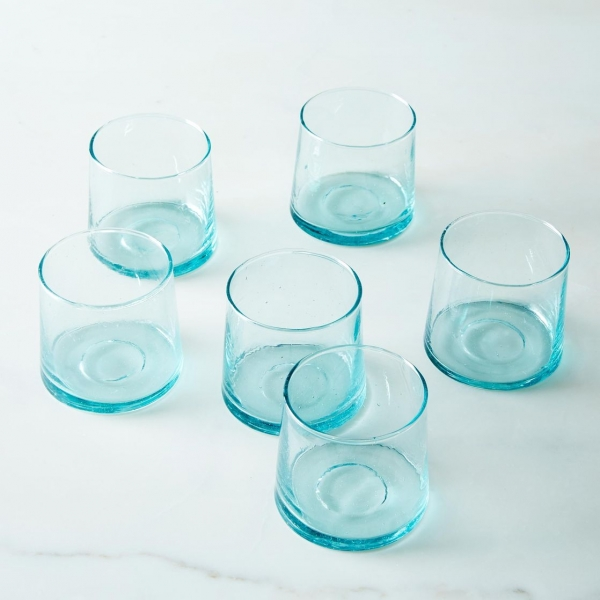 Marokkanske mundblæste glas - 6 stk. BELDI (S)