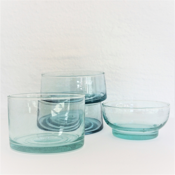 Mundblæst glasskål - Dia, 15 cm.