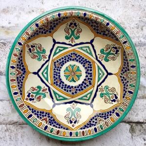 Marokkansk keramikfad, 40 cm i dia. - Vega